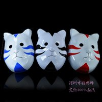 Wholesale Toys Naruto Blade - Wholesale-2016 Sell like hot cakes Naruto Special forces assassination tactics konoha bloody blades kitten mask black blue red 22cm*18cm
