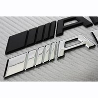 Wholesale Alloy Metal Car Stickers - Alloy Car Logo 3D Metal AMG Badge Sticker For Mercedes Ben Trunk Rear Decal A B C SL SLK Class CLA GLA Auto Accessories