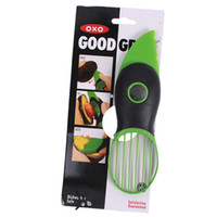 Wholesale Wholesale Plastic Utensils - 2017 Good Grips Gadget 3-IN-1 Avocado Slicer with Knife Slicers Pitter Peeler Scoop Kitchen Food Utensil Tool Gadgets Factory Direct 3 6ws