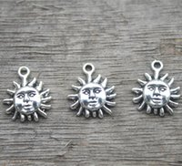 30pcs Sun Charms Antique tibétain argent ton 15x13mm