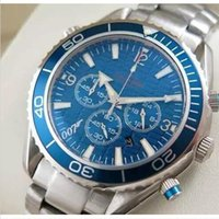 Wholesale Ocean Dive Watches - Luxury dive chronograph 007 blue Mens Watch Professional Planet Ocean Co-Axial Dive Wristwatch Men High-quality Six pointer male Watches