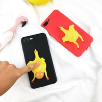 Давай тыкать меня! Funny Finger Toy Pinch Chicken Lay Egg Soft TPU Squishy Phone Case Cover для Iphone 7/7 plus / 6 / 6s / 6plus / 6s plus