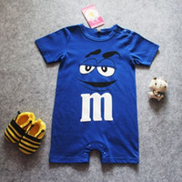 Wholesale Design Romper Infant - lovely design Newborn Infant child Boy Cool Clothes baby Short sleeves Romper Bodysuit Jumpsuit Outfit toddlers babies onesies free shipping