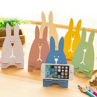Wholesale cute rabbit phone holder for sale – best Creative Mobile Phone Holder Cute Escape Rabbit Mobile Phone Stand Wooden Mobile Phone Bracket DHL Shipping Free