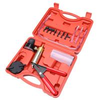 Wholesale Automotive Hand Tools Set - Car Hand Held Vacuum Pressure Pump Tester Set Brake Fluid Bleeder Bleeding Kit Car necessary Tools Top Quality