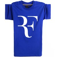 Wholesale Yellow Punk Clothes - Roger Federer T shirt Popular strong man short sleeve Tennis star tees Leisure punk clothing Elastic cotton Tshirt