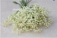 suni çiçekler ipek mor toptan satış-Parti Malzemeleri 60 cm Gypsophila Babys Nefes Yapay Sahte Ipek Çiçekler Bitki Ev Düğün Dekorasyon 3 Renk Beyaz Bej Mor