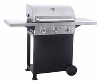 outdoor stainless cabinets - 3 Burner Gas Grill Burners LP Propane BBQ Barbecue Gas Grills with Cart Cabinet for Outdoor Backyard