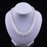 AAA 100% Natural Jade High Quality Wide 8mm Longitud 45cm Necklace for Women Melhor presente de Natal