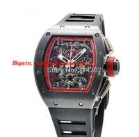 Wholesale grand mechanical - Luxury Watches New 011 Felipe Massa Singapore Grand Prix Automatic Black Rubber Strap Mens Watch Wristwatches