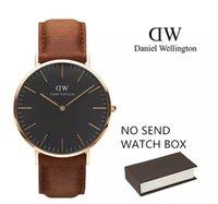 Wholesale Montre Dhl - DHL Daniel Wellington Dw watches women mens black fashion Couple watch leather Sweden Brand men quartz watch movements Luxury montre femme