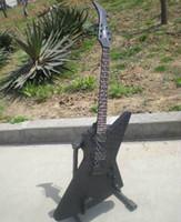 guitarra negra emg al por mayor-Envío gratis negro explorer guitarras Guitarras eléctricas EMG pickups Cabeza de Firebird Rosewood Fingerboard Puede enviar fotos personalización