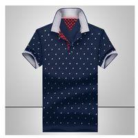 майки для мужчин оптовых-мужчины моды бизнес случайные рубашки хлопка с коротким рукавом Camisas Стенд воротник мужские рубашки топы свободной перевозкы груза новый