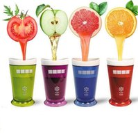 Wholesale Slush Cups - Milkshake Smoothie Slush Shake Maker Cup Ice Cream Molds Popsicle Molds Freeze Ice Cream Maker Tools Fruit Smoothie OOA1875