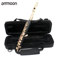 Wholesale flute 16 keys for sale - Piccolo Ottavino Half size Flute Cupronickel Silver Plated C Key Tone with Cork Grease Polish Cloth Stick Case Screwdriver