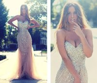 Trumpet/Mermaid special photography - Sexy Champagne Mermaid Pageant Dresses for Girls Lace up Corset Beading Tulle Sweetheart Special Occasion Runway Photography Long Prom Gowns