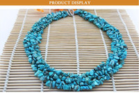 Wholesale Turquoise Tennis Necklace - Handmade Crystal Strand Turquoise Choker Necklace Women Bohemia Beach Irregular Stone Maxi Necklaces Statement Jewelry CE3122