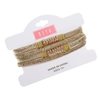 Melhor Jóias Gift New Fashion Multilayer Cuff Bangles Para Mulheres Gold Silver Plated Maxi Statement Bracelets Set