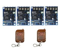 Wholesale 315 mhz remote - Wholesale- DC 12V 24V 36V 48V 8A 1 CH RF Wireless Remote Control 4 * Receiver & 2* Transmitter 315 or 433 mhz