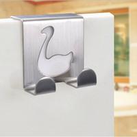 Wholesale Stainless Steel Door Hooks - Traceless Solid Hook Creative Duck Shape Cute Cartoon Modeling Doors And Windows Drawer Stainless Steel Door After The Hooks 1 5bk F R