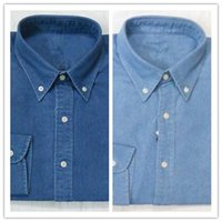Wholesale Free Business Shirts - New Fashion Small Horse Oxford Men Shirts Long Sleeve Free shipping Mens Dress Shirts High Quality Mens Business Shirts polo Chemise Homme