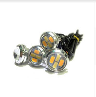 Blanco Ámbar Llevado Ojo Baratos-Venta al por mayor 23mm LED Eagle Eye 5730 4SMD Color Dualbackback WhiteAmber vehículo DRL Lignt venta al por mayor
