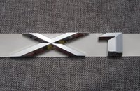 Wholesale E84 Bmw X1 - ABS Chrome X 1 Letters Number Trunk Rear Emblem Badge Sticker for BMW F48 E84 X1