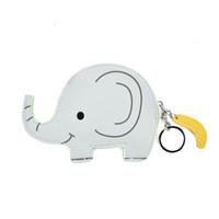 Wholesale Smile Wallet - Mini Cute Animal Lady Coin Purses Elephant Cat Bear Cartoon Key Ring Wallets Accessories Plain Zipper Girl Bag Pendant Smiling face LBQ453