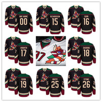 Ice Hockey blue coyote - Arizona Coyotes Brad Richardson Max Domi Radim Vrbata Christian Dvorak Shane Doan Ryan White Classic Throwback Jersey