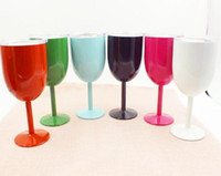 Wholesale North Homes - 2017 Fashion 10 oz Wine Cups 9 Color Wine glasses wine cooler Stainless steel Bottle Tumbler True North mugs By DHL Free shipping
