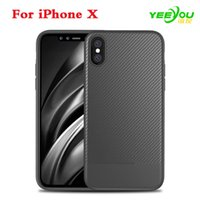 Wholesale Materials For Drawing - For iPhone X Case TPU Carbon Fiber Drawing Material Fashion Shockproof Cover For iPhone 8 8 Plus 7 7Plus 6 6s plus