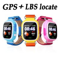 """Wholesale Wrist Watch Alarm For Kids - 1.22""""Colorful Touch TFT screen Q90 Kids Smart Watch GPS+LBS+G-sensor Children Smart Watch Answer Call for iOS Android Alarm"""