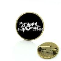 Wholesale Romance Brooch - Wholesale- 2017 Fashion badge Jewelry Rock Band My chemical romance brooch Slipknot music band pins gift for men and women C465