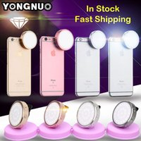 Wholesale Led Lights Video Yongnuo - Wholesale-YONGNUO Flash Speedlite LED Photo Light for iPhone 6 6S Plus and Smartphone Round Led Video Panel Send Selfie Light YN06