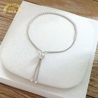 Wholesale Bezel Set Cz - Paylink: Bracelet With Clear CZ Fit European Signature Style Gift Jewelry