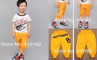 Wholesale Spring summer autumn fashion trousers boys pants girls pants Alphanumeric printing Rocket Baggy harem pants short long