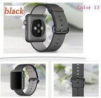 Wholesale Iwatch Wrist - Sport woven nylon band strap for apple watch 42mm 38mm wrist braclet nylon watchband for apple watch iwatch 2 1 Edition