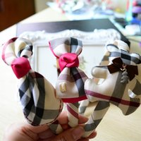 Großhandel-Sweet Baby Girls 'Hairbands Classic Plaid Kinder Stirnband Fashion Headwear Zubehör