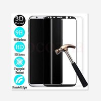 Wholesale For Samsung Galaxy S8 S8 Plus High Quality Full D Curved Tempered Glass Film Screen Protector