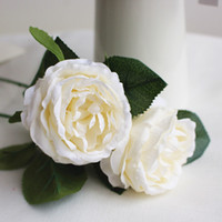 freier verschiffenblumenstrauß großhandel-Hochzeitsblumen Seide Künstliche Rose Brautstrauß Mi Dekorationen Weiß Rosa Grün Rose Orange Freies Schiff