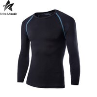Wholesale Long Sleeve Thermal Wholesale - Wholesale- Mens Boys Casual T-shirt Compression Base Layer Long Sleeve Quick Drying Thermal Under Top Tee Shirt New Motion T shirts HY895