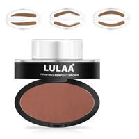 Wholesale Making Seal - HOT Makeup LULAA Brand Lazy Quick Makeup Stamp Eyebrow Powder Seal Eye Brow Cream Eyeshadow Brow Make Up Free Shipping