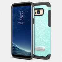 Wholesale Rose Gold Mosaic - For Galaxy S7 S7 edge J7 2017 J3 2017 mobile phone shell mosaic pattern wrestling phone case Armor 2 in1 bracket case D