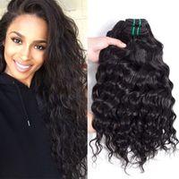 Wholesale Hot Water Hair Extensions - Hot Selling Big Curly Virgin Hair Bundles Brazilian Peruvian Indian Malaysian Water Wave Wavy Remy Human Hair Extensions 6 Bundles Lot