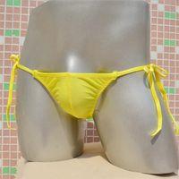 cuecas de seda para homem venda por atacado-2018 dos homens cuecas de seda gelo transparente transparente bolsa cuecas calcinhas mens calças respirável bandage biquíni cintura baixa calças underwear bolso penis