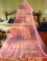 Wholesale Elegant Round Lace Insect Bed Canopy Netting Curtain Dome Mosquito Net New House Bedding Decor