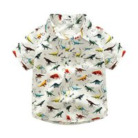 Wholesale wholesale kids clothing europe - Boys Dinosaur T-shirt Fashion Casual Kids Clothing Summer Print Top Europe and America Short Sleeve Top