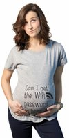 Wholesale Get Wifi - Pregant shirt can i get the wifi letter print Funny Gift for Mom Woman T Shirt Funny Clothing