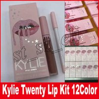 Wholesale I Baby - Kylie Jenner i want it all Lip Gloss lip Kit & Lipliner liquid lipstick matte Twenty One wish Augest Bug Baby Girl 12 Colors