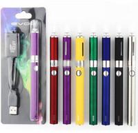 Wholesale Bcc E Cig Starter Kit - MT3 EVOD Starter Kit BCC E-Cig kits Electronic Cigarette Blister Package with EVOD battery 650mAh 900mAh 1100mAh 100pcs